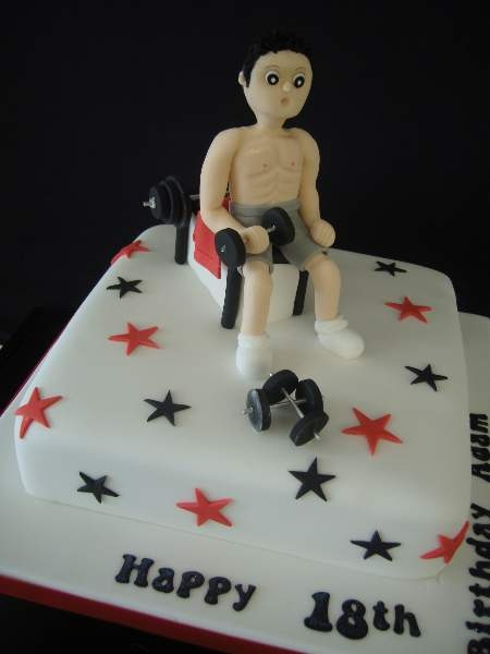 weight lifter birthday cake